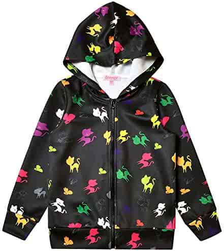 storeofbaby Hoodies for Girls Casual Double Hood Button Sweatshirt Pullover 4-13 Years