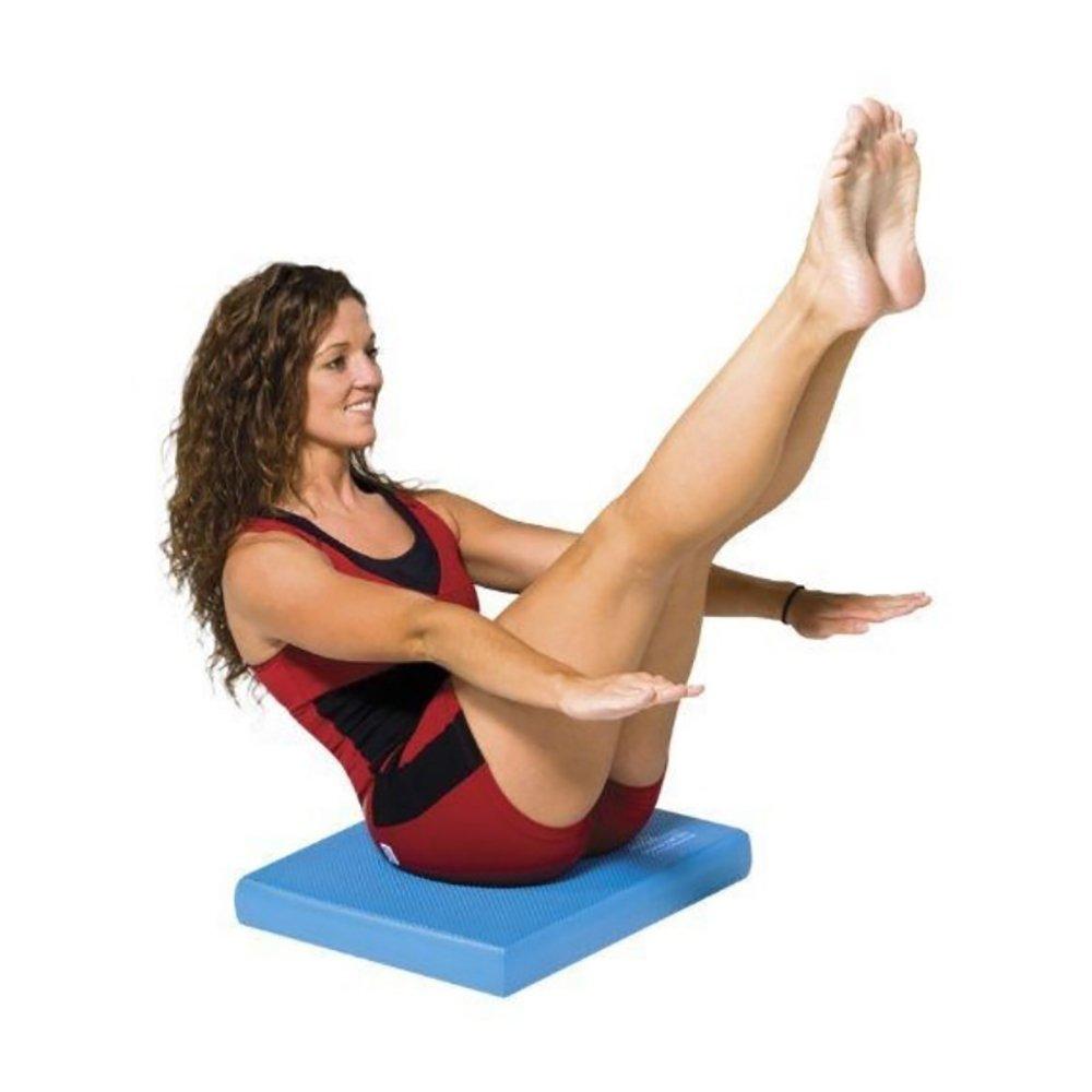LJJ Yogamatte 5.5mm Balance Pad TPE Anti-Rutsch Balance Trainer (blau 39.5cm  49.5cm)