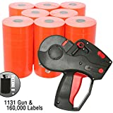 Monarch 1131 Price Gun With Labels Value Pack: Includes Monarch 1131 Gun, 160,000 Fluorescent Red Pricemarking Labels, 8 Bonus Inkers