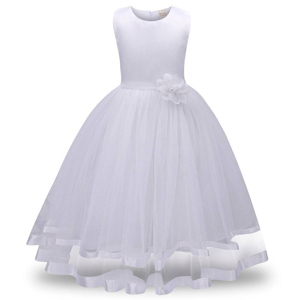 Amazon.com: Reasoncool Flower Girl Princess Bridesmaid Pageant Tutu Tulle Gown Party Wedding Dress: Clothing