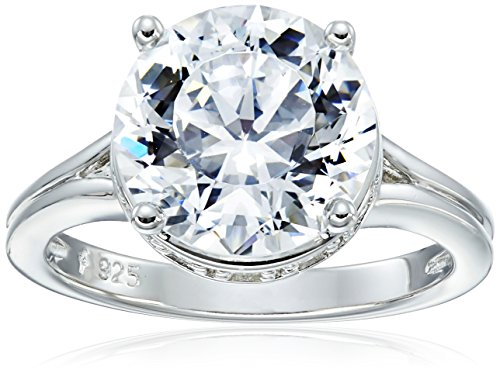Platinum Sterling Collection Solitaire Zirconia