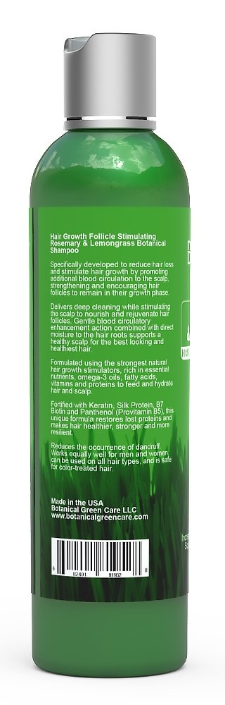 "Hair Growth/Anti-Hair Loss Premium Organic Sulfate-Free Shampoo ""Rosemary & Lemongrass"" Natural Therapy and Alopecia Prevention. by Botanical Green Care (Image #3)"