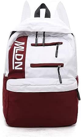 حقيبة ظهر نسائية اللون بسحاب كاجوال سعة كبيرة حقيبة قماشية أنيقة حقيبة سفر في الهواء الطلق