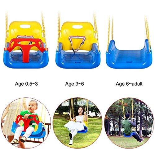 Image of the Benlet 3 In 1 Swing Seat, Toddler Secure Detachable Swing Seat Indoor Outdoor Children Hanging Seat Babysit