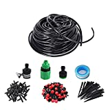 Orangehome Drip Irrigation Kit Accessories Plant Watering System Micro-Irrigation System Include 1/4'' Tubing (80 ft) 30PCS Drippers for Garden Greenhouse Lawn