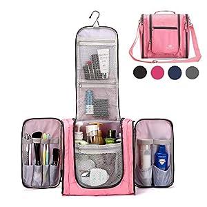 Large Hanging Travel Toiletry Bag for Men and Women Waterproof Makeup Organizer Bag wash bag Shaving Kit Cosmetic Bag…