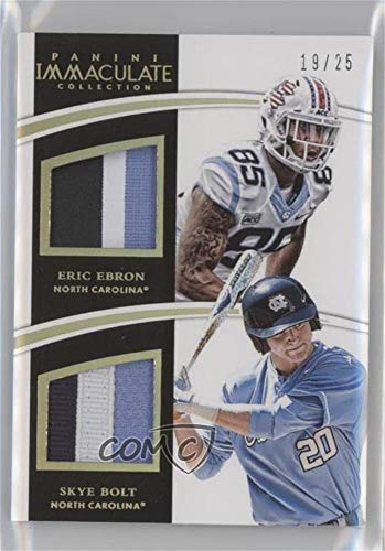 Eric Ebron; Skye Bolt #19/25 (Trading Card) 2015 Panini Immaculate Collection Collegiate - Combos - Prime #31