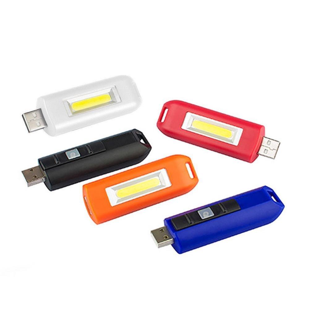 Gusspower LED Schl/üsselanh/änger Taschenlampe Mini COB USB Wiederaufladbare Tragbare Arbeitsscheinwerfer Inspektionslampe Blau IPX4 Wasserdicht f/ür Camping Haushalt Workshop