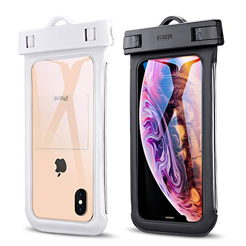 ESR Universal Waterproof Case, IPX8 Waterproof Phone Pouch, Dry Bag Compatible with iPhone Xs Max/Xs/XR/X/8 Plus, Samsung Galaxy S10/S10+/S10e/S9/Note9, Google Pixel 3a, and Phones up to 6.0