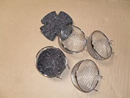 Bird Canary Finch Wire Nests With Felt Pad--Lot of 4