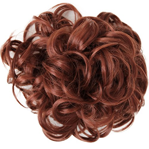 PRETTYSHOP XXXL Hairpiece Hair Wrap Scrunchie Scrunchy Updos VOLUMINOUS Curly Messy Bun Copper red # 350 HW20