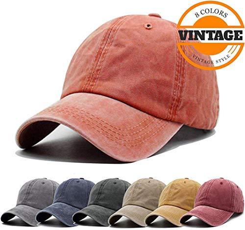 dfc2e1ebd77a5 Unisex Vintage Washed Distressed Baseball Cap Twill Adjustable Dad Hat