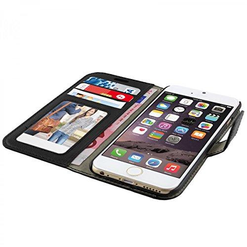 Bookstyle Case pour Apple iPhone 6s housse de protection Smartphone ( 4.7' ) Cover similicuir noir