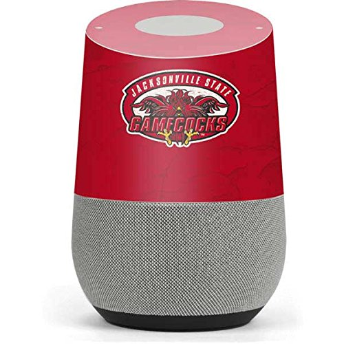 Jacksonville State Google Home Skin - Jacksonville State Gamecocks Red Vinyl Decal Skin For Your Home by Skinit