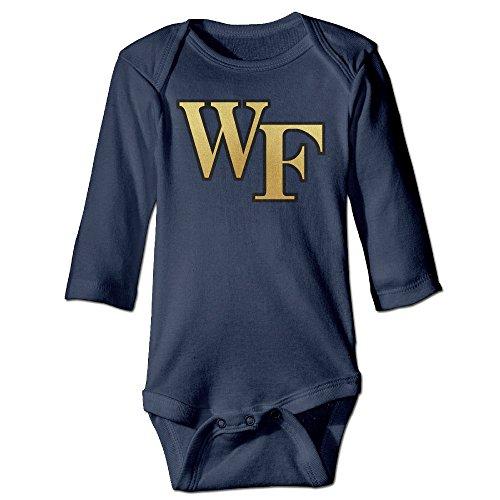 ElishaJ Wake Forest University Babys Unisex Long Sleeve Infant Snapsuit Navy Size 18 Months (Samsung Smart Fridge compare prices)