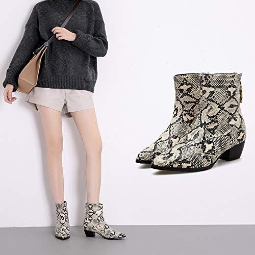 HRCxue Pumps 5cm dick mit Martin Stiefel Stiefel Stiefel Damenstiefel bloße Stiefel Damenstiefeletten ec1505