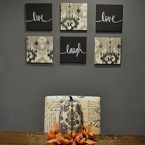 Black Live Laugh Love Canvas Set