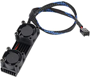 JMT PCIE SSD M.2 2280 Heat Sink Radiator 3pin1 for SM951 960 961 Rapid Cooling Cooler Double Fan & Heatsink Fin Thermal Pad 3Pin Black Power Cord (Black)