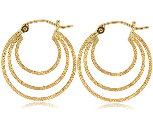 Balluccitoosi Yellow Tube Earring - 14k Gold Earring for Women and Girls - Unique Jewelry for Everyday by Ballucci&Toosi Goldsmith