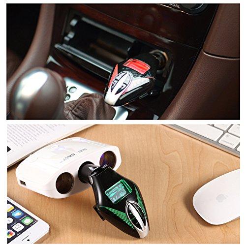 Winbang Coche Reproductor de MP3 Car Kit LCD MP3 sin Hilos del Jugador FM del modulador del transmisor Remoto con Coltrol Verde