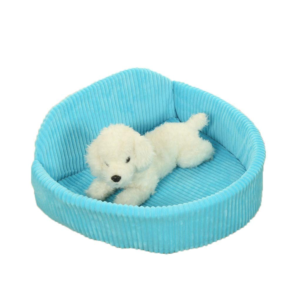 Blue Stripes Desti Flakes Pet Nest Cute Soft Pet Nest Antiskid Dog Cat Bed Off Sleeping Bag Small Pet Sleeping Pad Quattro stagioni disponibili Winter Warm (colore: Blue Stripes)