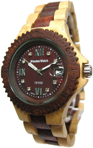 Tense Natural Two Tone Sports Wood Watch G4100MS Mens
