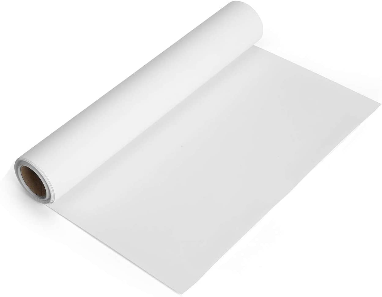 White Heat Transfer Vinyl Roll 12''x5' Iron-On Vinyl White HTV Vinyl for T-Shirt Silhouette Cameo Machines Craft Cutters 12 Inches by 5 Feet: Kitchen & Dining