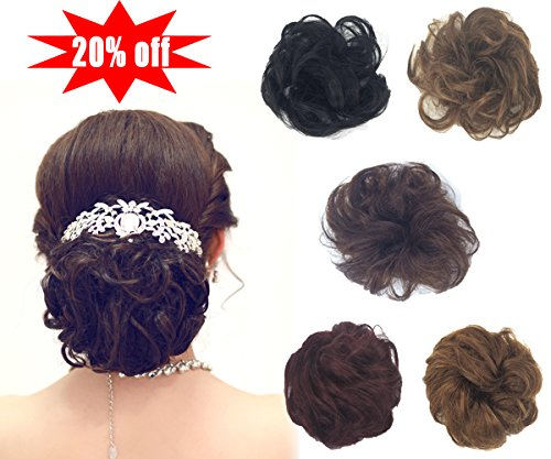 100% Remy Human Hair Bun Extensions Hair Ponytail Extension
