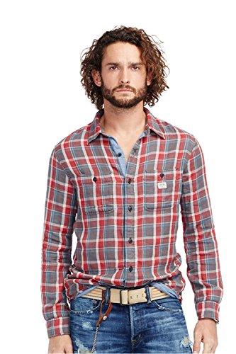 (RALPH LAUREN Denim Supply Plaid Cotton Shirt (Large))