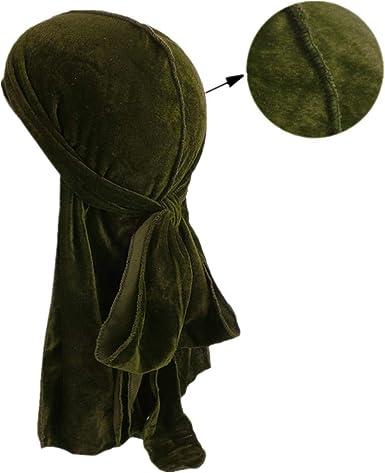 Durag Designer Premium Wave Cap Hypebeast Silky Doo Rag Satin Velvet Style Green
