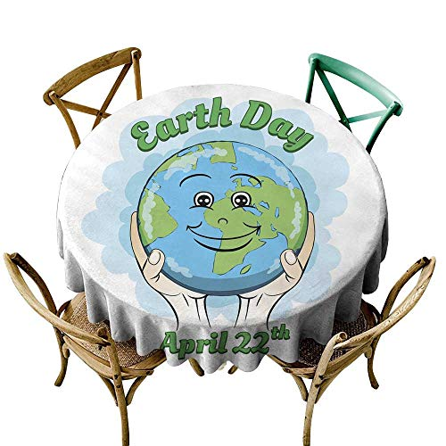 Free Earth Day Posters - SKDSArts Wrinkle Free Earth Day Poster D36,Round Tablecloth