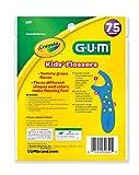 Sunstar 897RZ GUM Crayola Kids Flosser, 75 Count, Grape Flavor