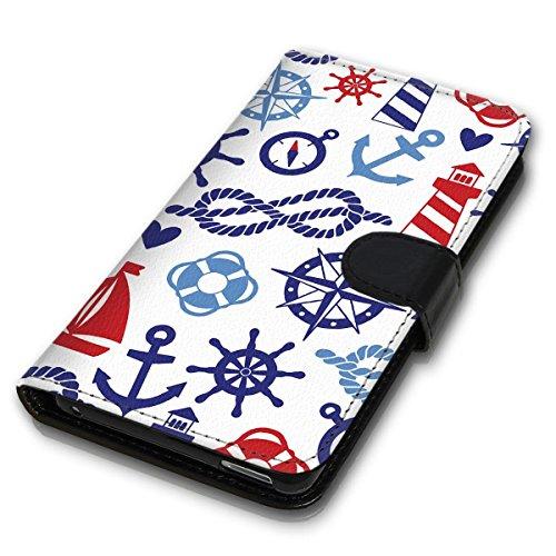 Wallet Book Style Flip Handy Tasche Case Schutz Hülle Schale Motiv Etui für Apple iPhone 5 / 5S - Design Flip MVD162
