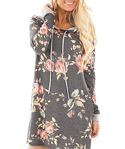 floral print sweater dress - 2
