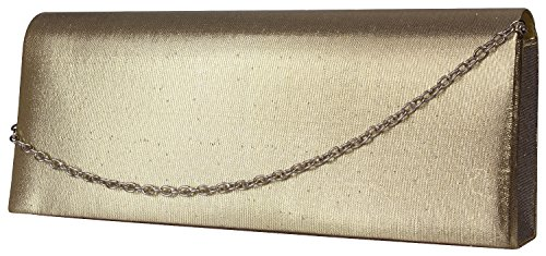Alex Flittner Designs - Cartera de mano para mujer Marrón marrón Dorado - Gold velour