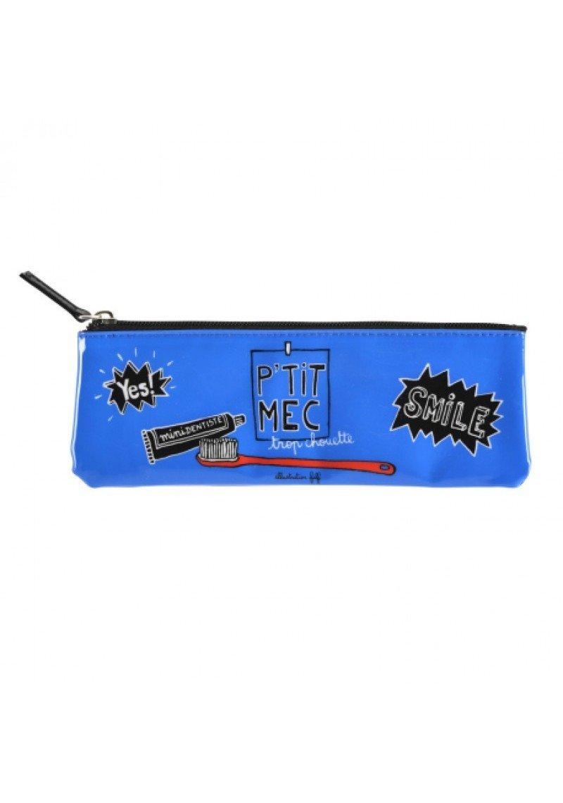 bleu Trousse /à brosse /à dents RAY Yes Derri/ère la porte