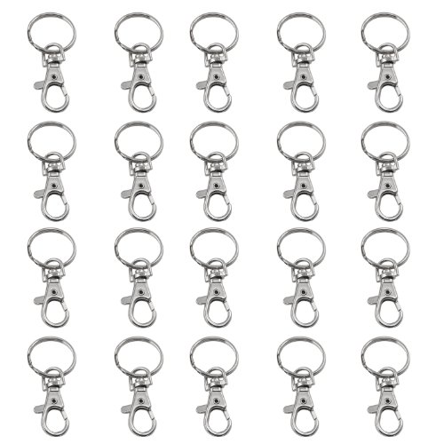 Price comparison product image TRIXES 20 X Small Lobster Detachable Swivel Clasps for Key Split Ring Blanks