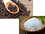 whole salt and pepper corns - Jalpur Millers Spice Combo Pack - Sea Salt Coarse 200g - Whole Black Peppercorns 100g (2 Pack)