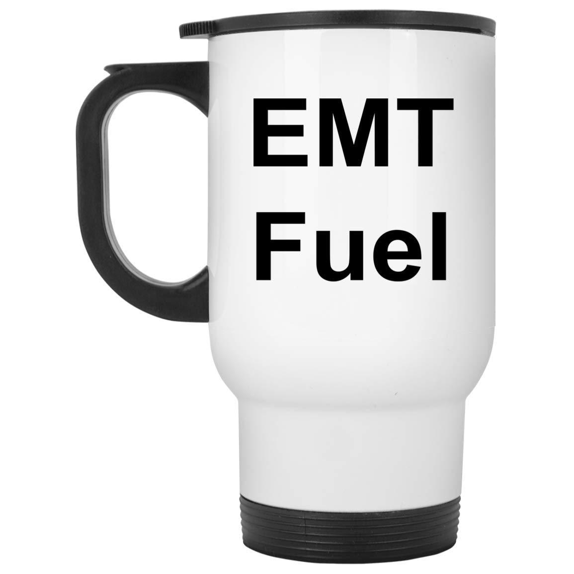 EMT トラベルマグ 14オンス ホワイトステンレススチール おもしろギフト   B07HY2676Y