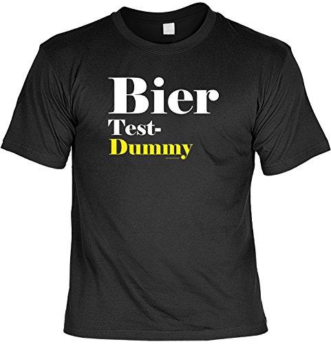 T-Shirt - Bier Testdummy - lustiges Sprüche Shirt als Geschenk für Biertrinker mit Humor