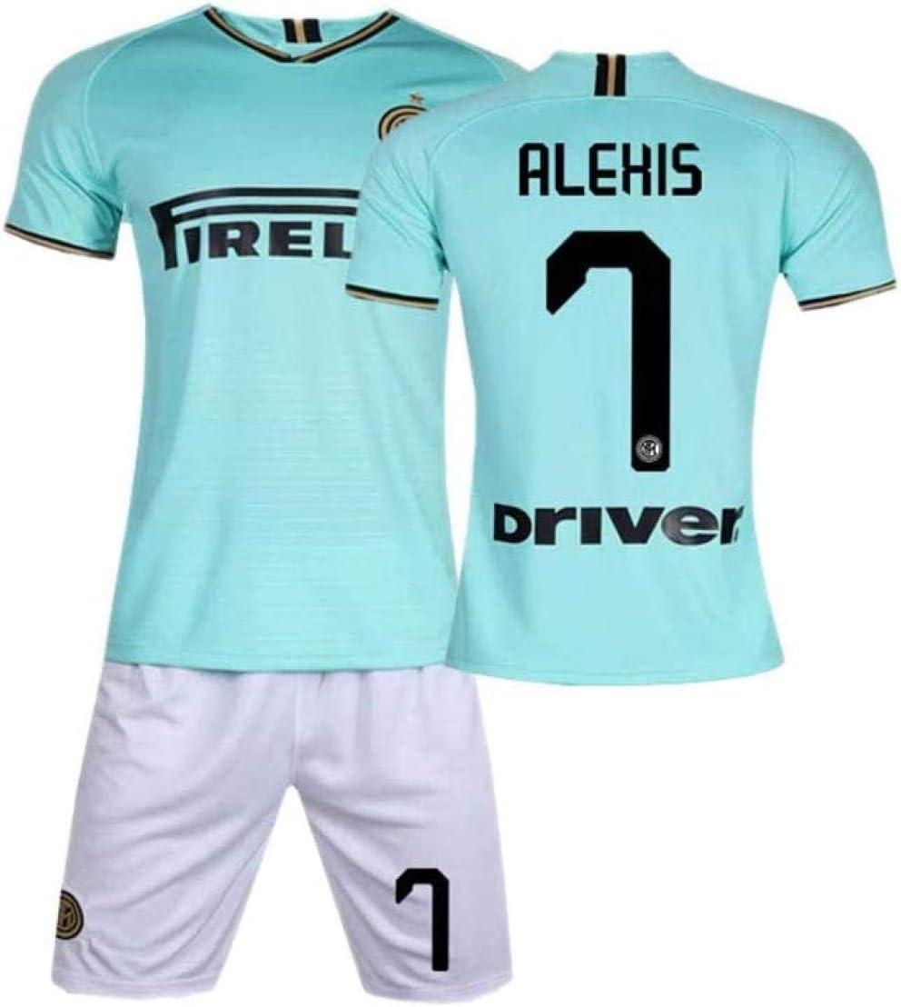 NNY 19-20 Internazionale Milano Heimfan Maglia da Calcio Alexis Sanchez 7# Maglie da Calcio Divisa da Allenamento per Uomo-Verde/_3 Anni