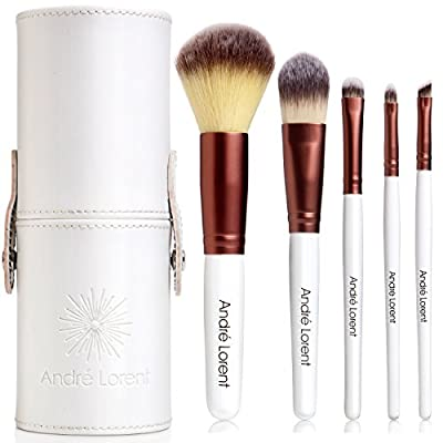 #1 PRO Makeup Brush Set With Gorgeous Designer Case - Includes 5 Professional Makeup Brushes.. Best Quality Brushes for Eye Makeup and Face - Top Choice of Pro Makeup Artists