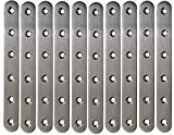 Set of 10 - Steel Brace (Also Known as - Straight Bracket, Straight Metal Bracket, Steel Straight Brace, Steel Straight Brackets, Flat Straight Brace, Straight Steel Brace, Flat Steel Brace)