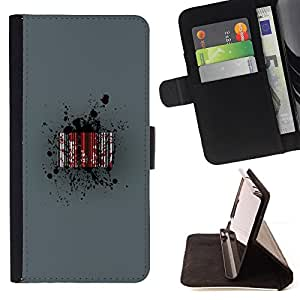 Jordan Colourful Shop - Blood Barcode For Apple Iphone 5 / 5S - Leather Case Absorci???¡¯???€????€???????????&