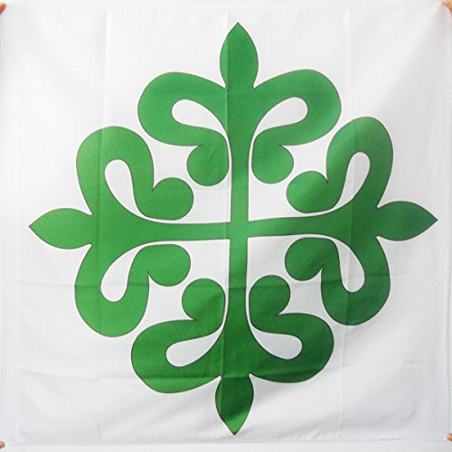AZ FLAG Order Of Alcantara Flag For A Pole - Knights Of St. Julian Flags 90 X 90 Cm - Banner 3X3 Ft With - Order Of Alcantara