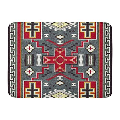 Ablitt Bath Mat Patterns 33 Southwest Tribal Western Designs Geometric Native Bathroom Decor Rug 16'' x 24'' by Ablitt