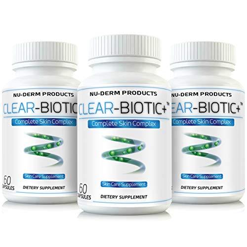 Clear Biotic (3pk) Acne Vitamins Acne Pills Supplements Acne Treatment W Super Acne Vitamins a E C & B2 (Best Otc Acne Pills)