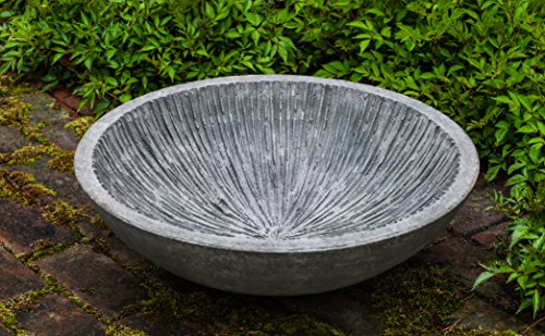 Campania International W-103-AS Equinox Water Bowl, Alpine Stone Finish