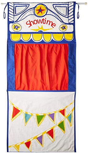 (MMP Living Doorway Puppet Theater with Adjustable Rod, tie-Back Curtains - Over 6 feet Tall, 100% Cotton)