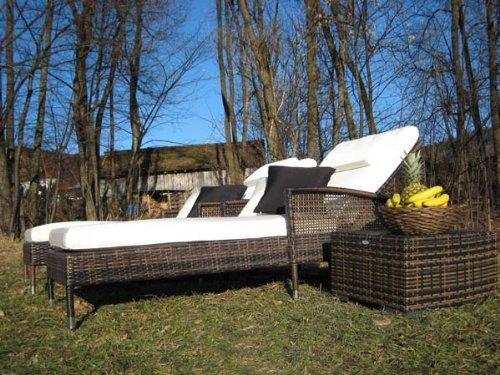 Exklusiver Lounger Luxury maron bicolor